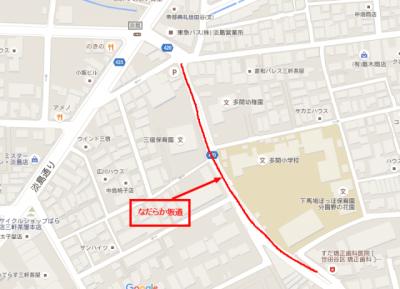 淡島通り~Google マップ