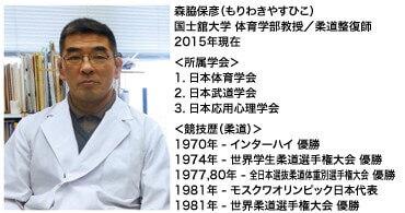 国士舘大学森脇保彦教授。
