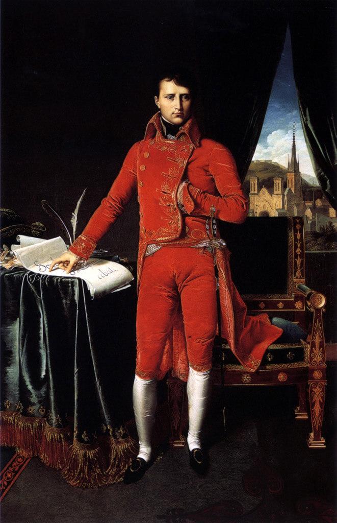 ナポレオン、ポケットに手を入れる