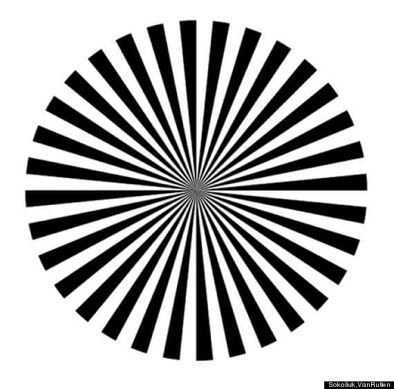 自分の脳のアルファ波がわかる錯視画像 引用